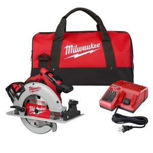 M18 18-Volt Lithium-Ion Brushless Cordless 7-1/4 in. Circular Saw Kit with 1 Battery 5.0Ah, Charger and Bag