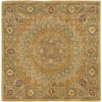 Heritage Light Brown/Grey 8 ft. x 8 ft. Square Area Rug