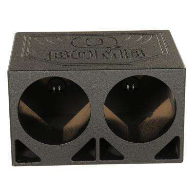 10TB Dual 10 in. Triangle Ported Subwoofer Box with Bedliner Spray
