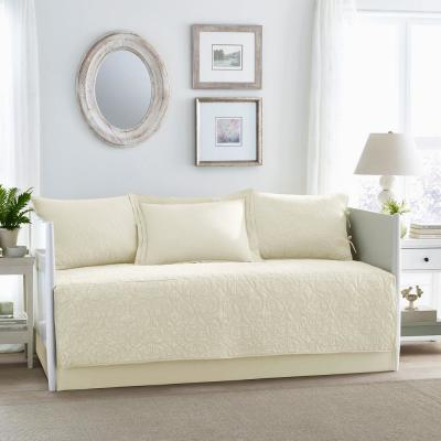 Felicity 5-Piece White Daybed Bedding Set