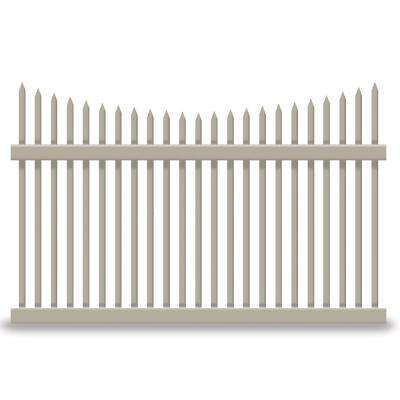 Barrington 4 ft. H x 8 ft. W Khaki Vinyl Picket Fence Panel