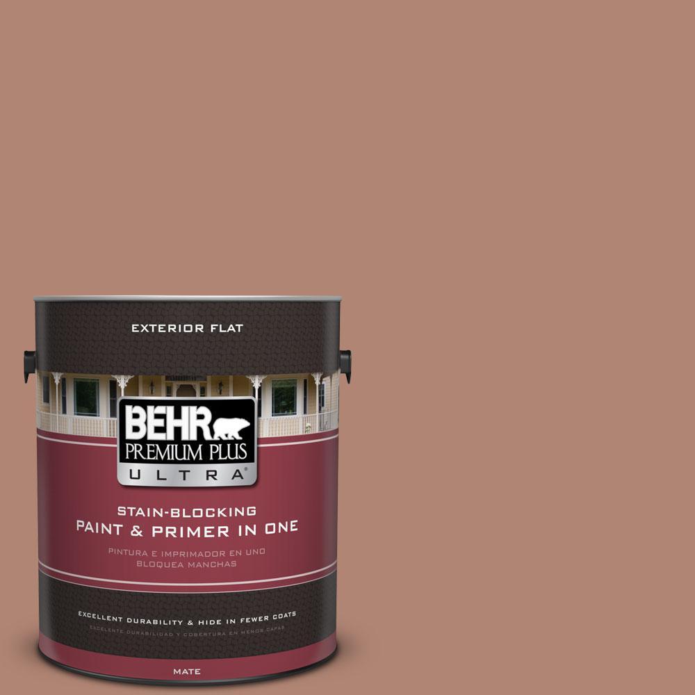 BEHR Premium Plus Ultra 1-gal. #220F-5 Light Mocha Flat Exterior Paint