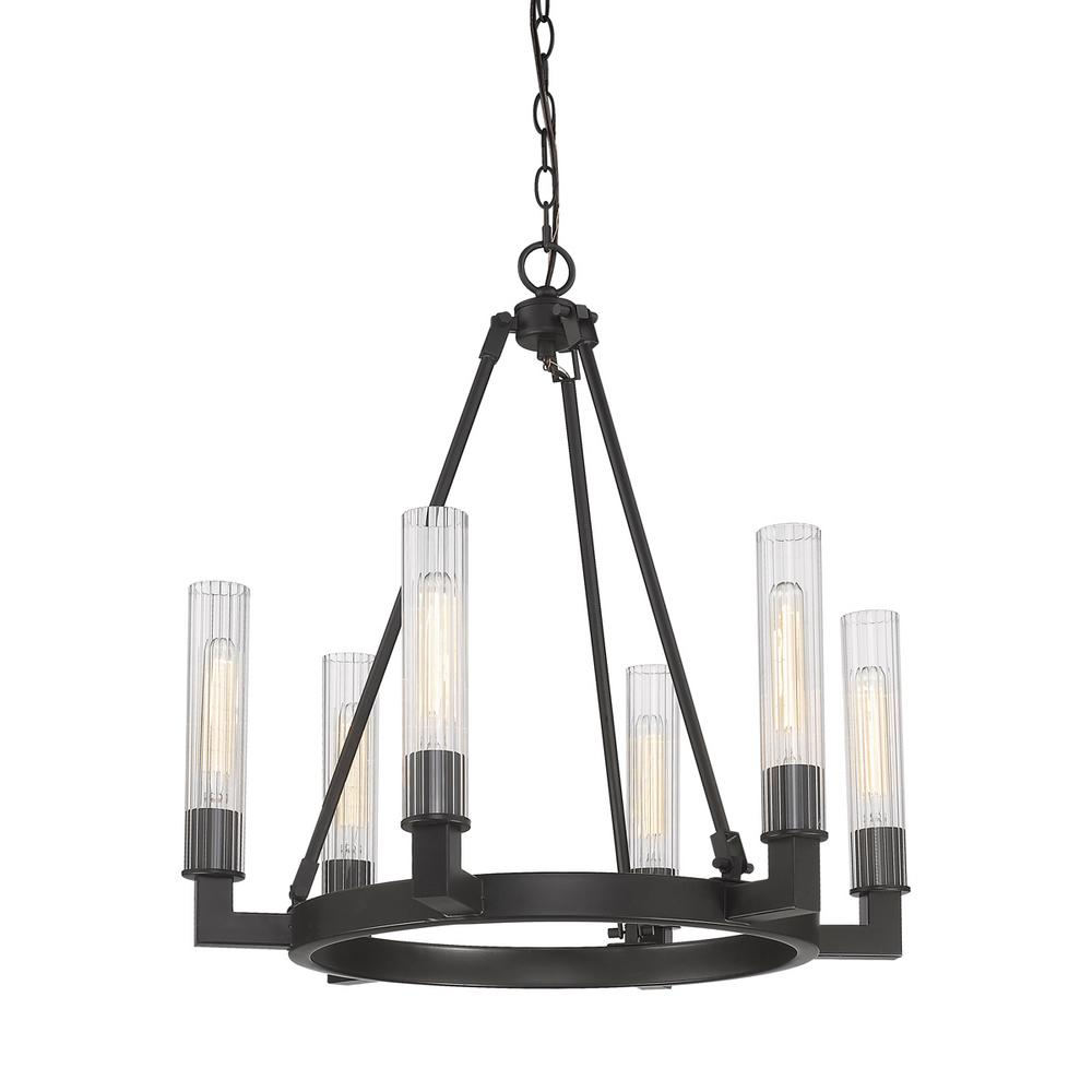 Filament Design Welles 6 Light Durango Bronze Chandelier