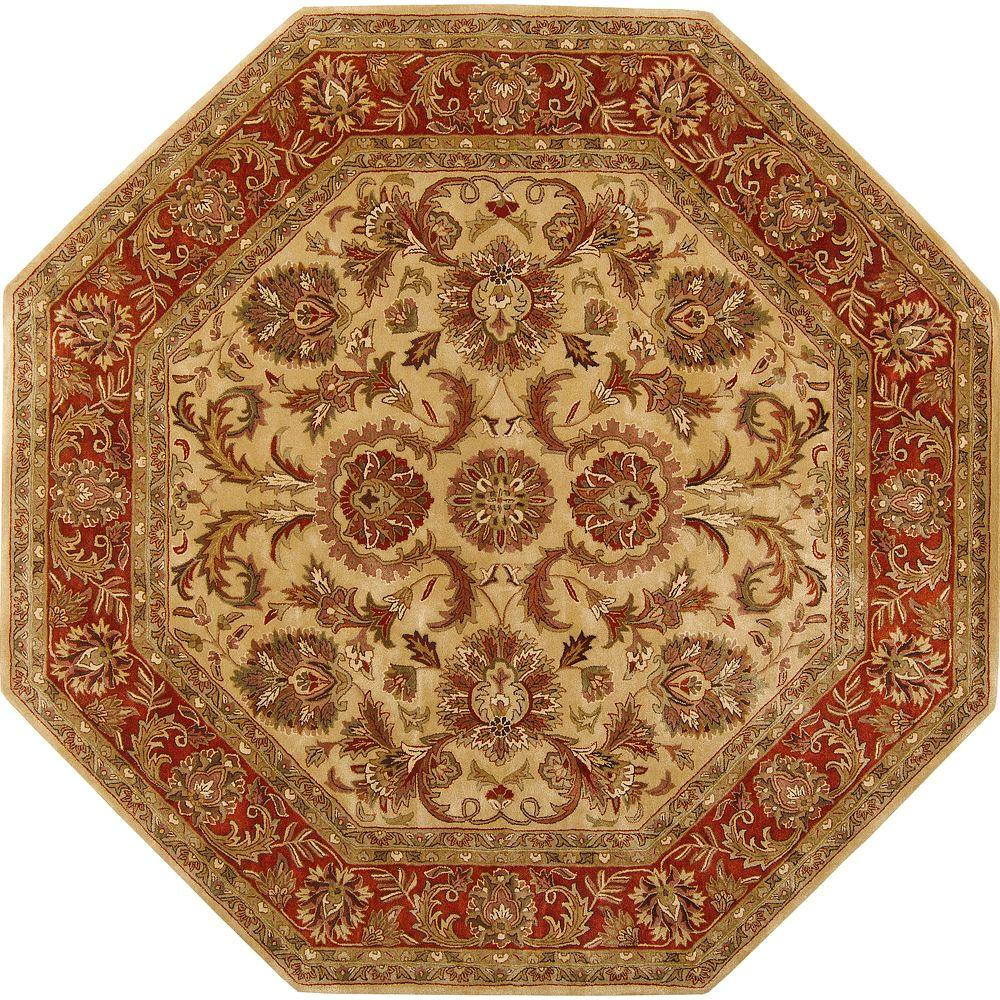 Shop Persian Oriental New Zealand Wool Area Rug: Artistic Weavers Alma Gold Semi-Worsted New Zealand Wool 8
