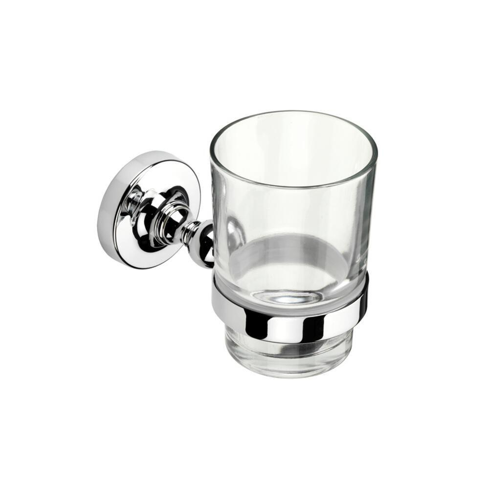 Croydex Worcester Tumbler and Holder in Chrome