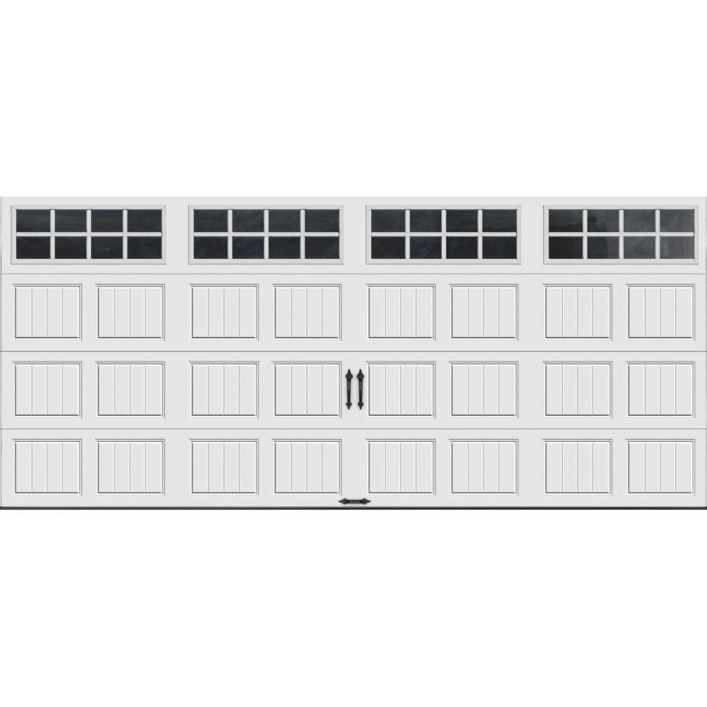 Clopay gallery collection 16 ft x 7 ft 6 5 r value for 1 5 car garage door