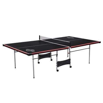 Official Size Folding Table Tennis Ping Pong Game Table in Black (4-Piece)