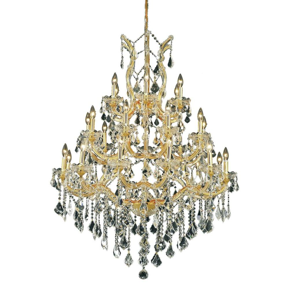 Titan Lighting Crystal Web 6-Light Matte Black With Bronze