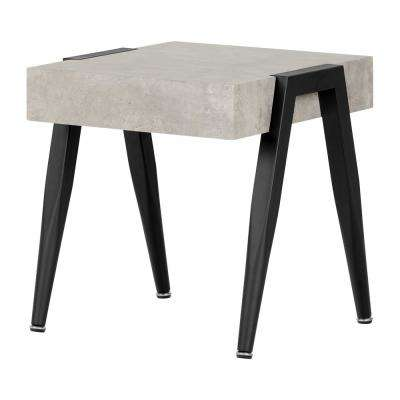 City Life Concrete Gray and Black End Table