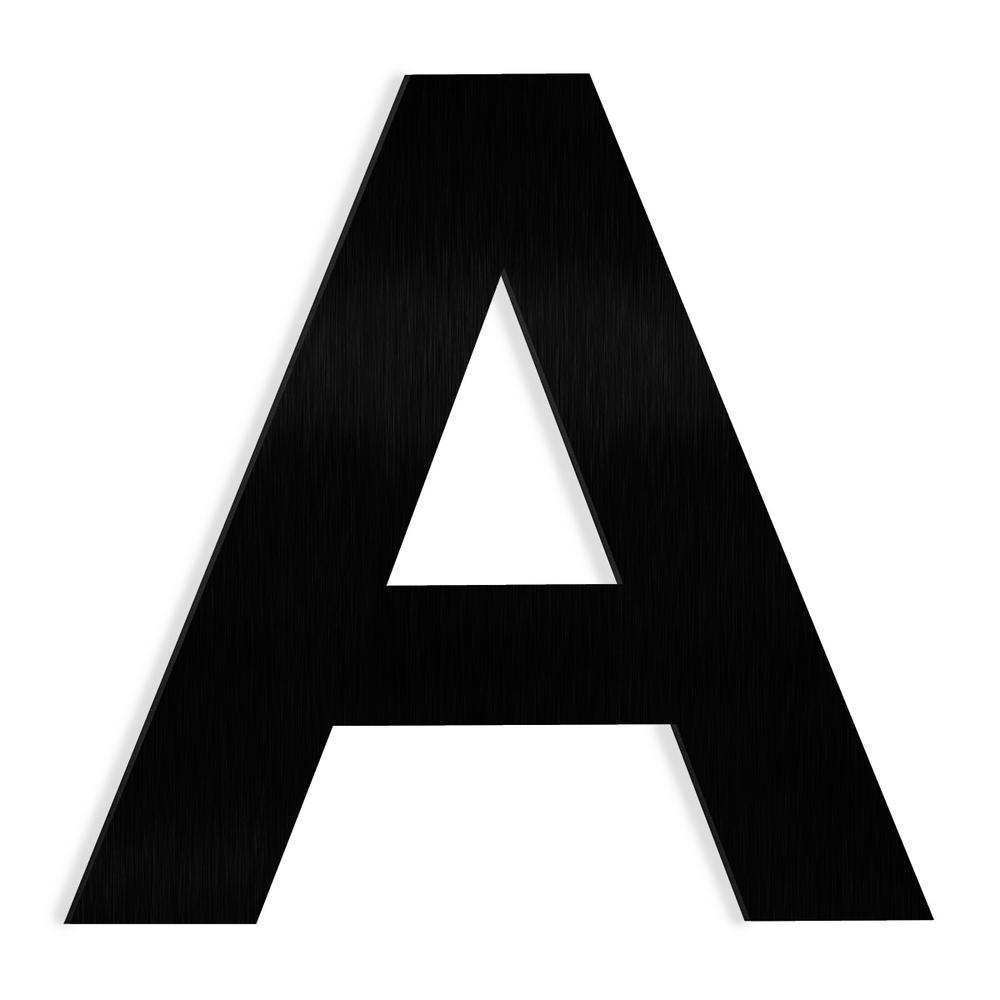 Barton 6 in  Black Stainless Steel Floating House Letter A