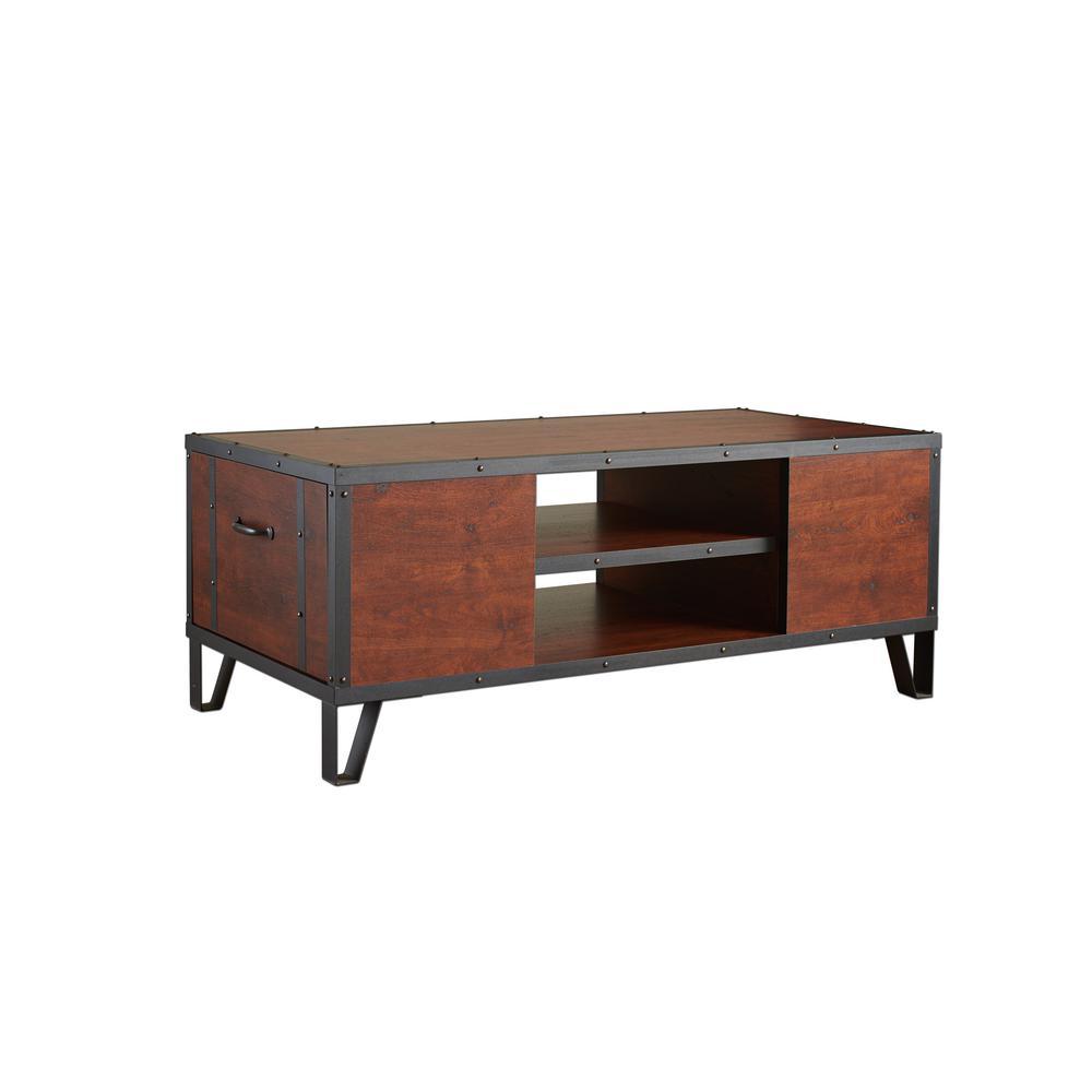 Furniture Of America Mejor Vintage Walnut Coffee Table