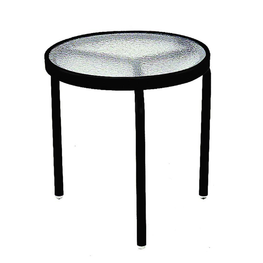 Black Acrylic Top Commercial Patio Side Table