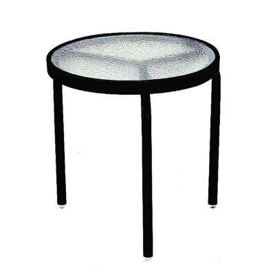 18 in. Black Acrylic Top Commercial Patio Side Table