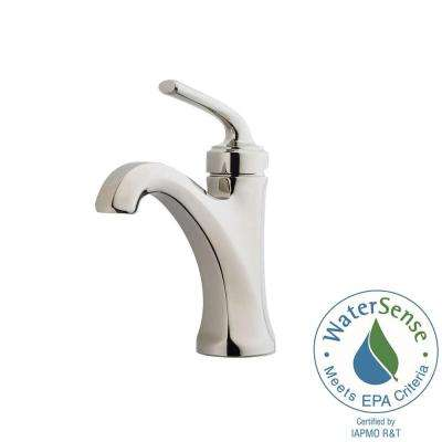Arterra 4 in. Centerset Single-Handle Bathroom Faucet in Polished Nickel