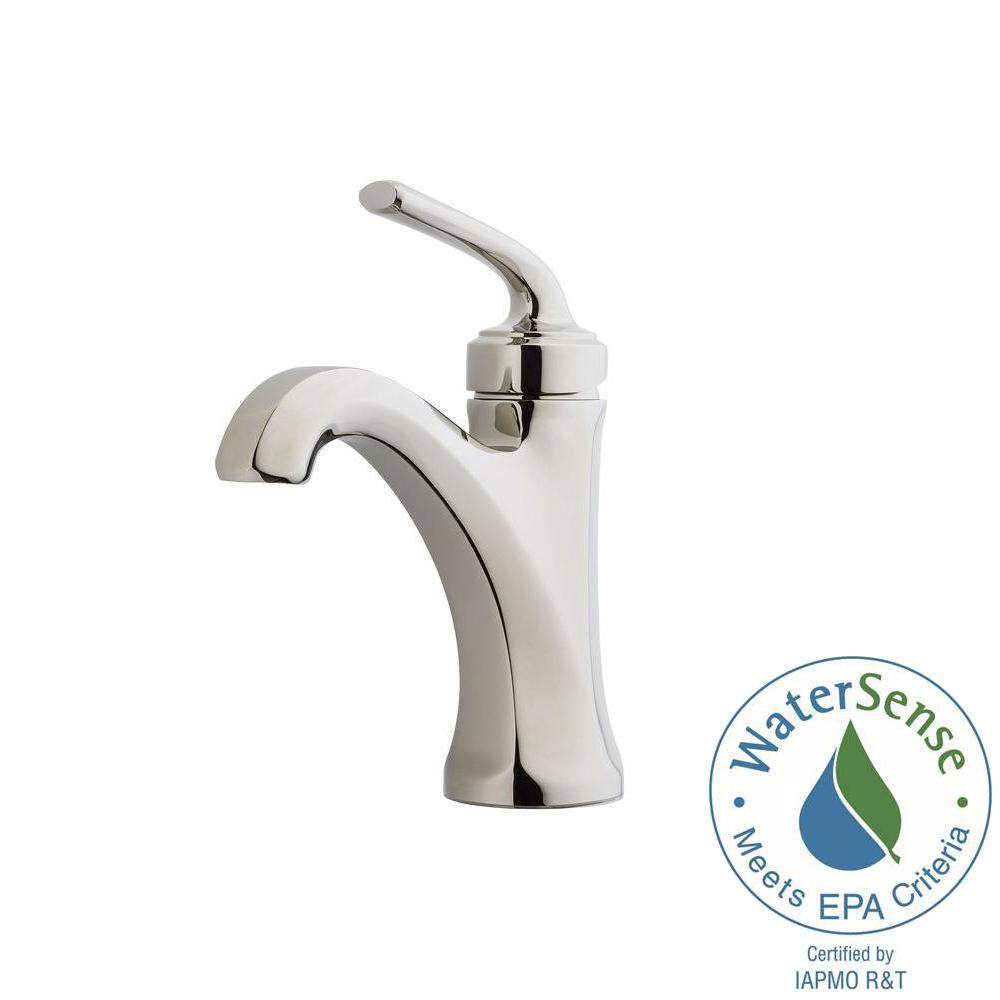 Arterra 4 in. Centerset Single-Handle Bathroom Faucet in Polished Nickel