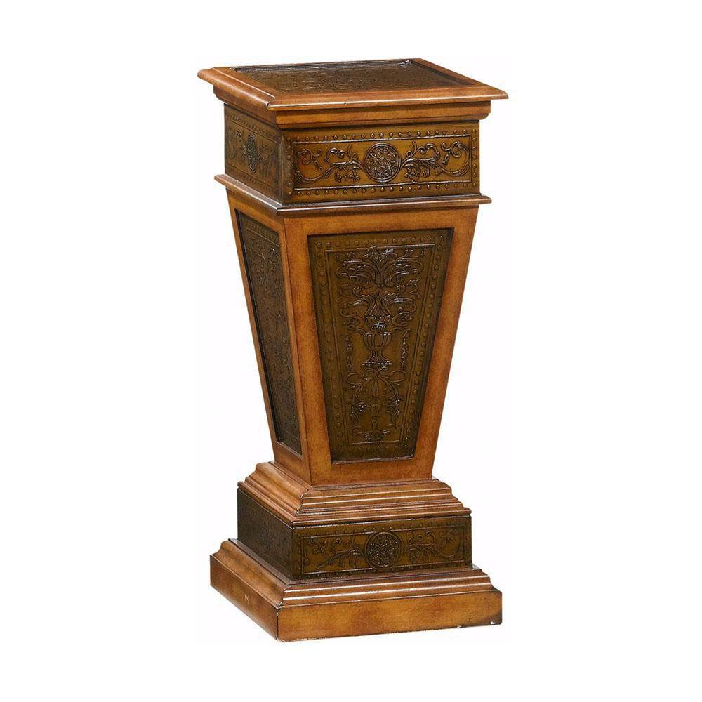 Home Decorators Collection 14 in. W Royal Antique Oak Pedestal