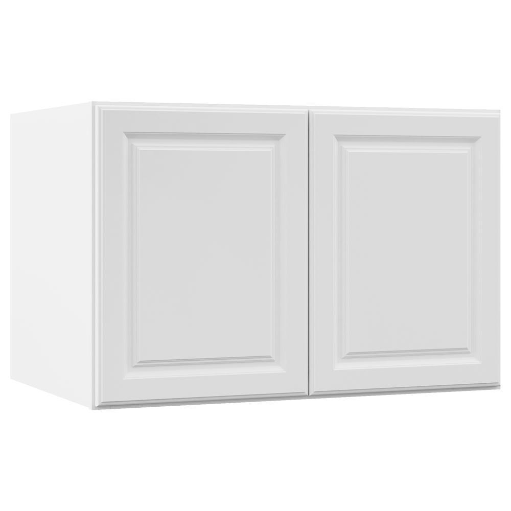 Merveilleux This Review Is From:Hampton Assembled 36x24x24 In. Above Refrigerator Deep  Wall Bridge Kitchen Cabinet In Satin White