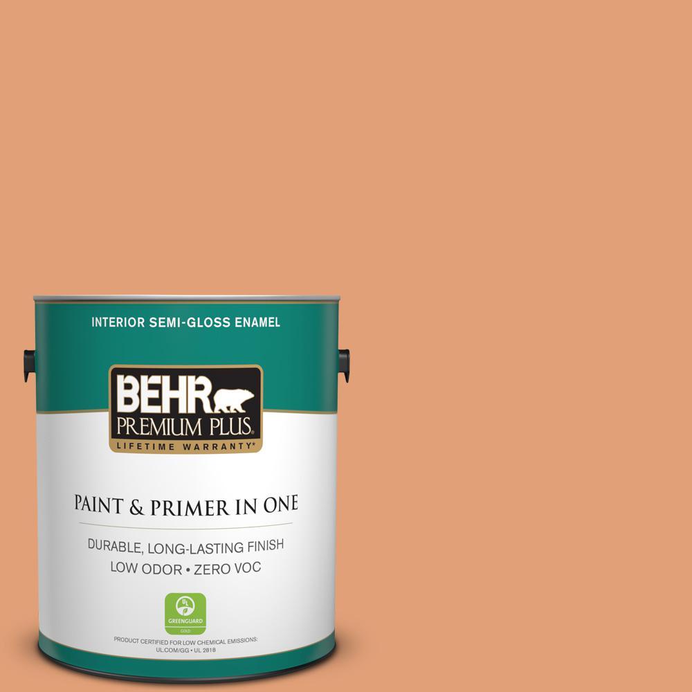 1-gal. #M220-5 Roasted Seeds Semi-Gloss Enamel Interior Paint