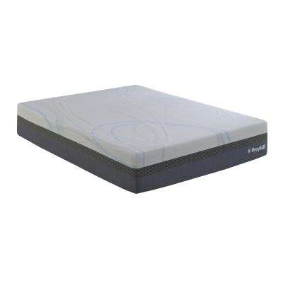 O2 12 in. Cal-King Medium Plush Liquid Gel Foam Mattress with Celliant Fiber