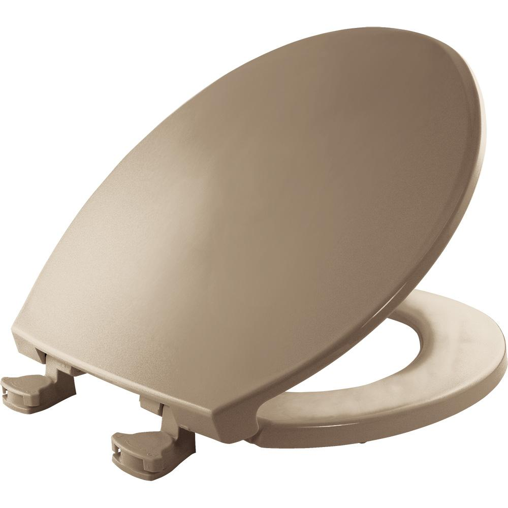 Bemis Lift Off Round Closed Front Toilet Seat In Bone