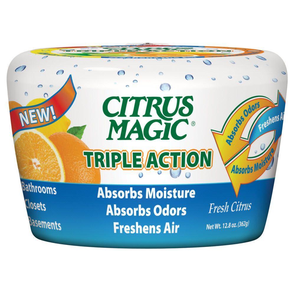 12.8 oz. Fresh Citrus Triple Action Moisture and Odor Absorber