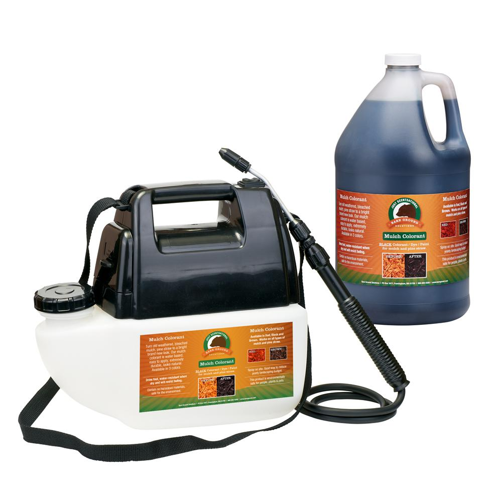 Just Scentsational 1 Gal. Black Mulch Colorant with Battery Operated Sprayer Applicator