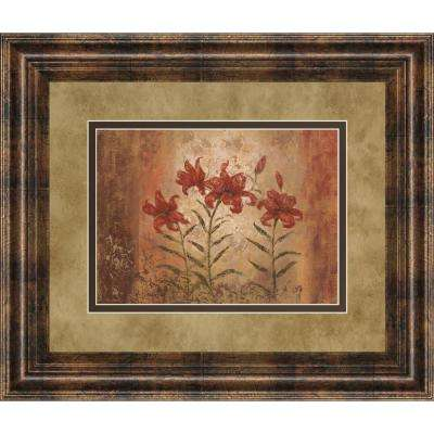 """34 in. x 40 in. """"The Lily Style"""" by Vivian Flasch Framed Printed Wall Art"""