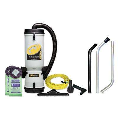 LineVacer HEPA 10 qt. Backpack Vacuum with High Filtration Tool Kit