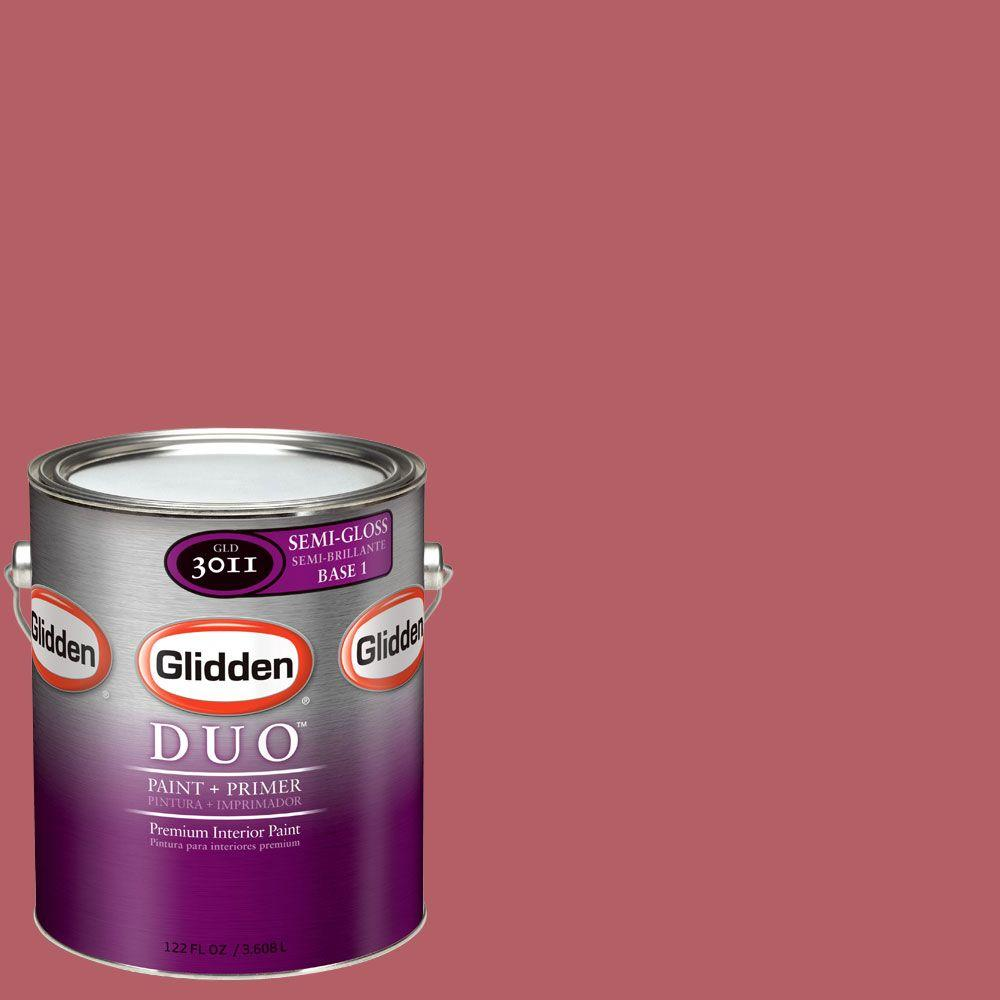 Glidden DUO Martha Stewart Living 1-gal. #MSL012-01S Watermelon Semi-Gloss Interior Paint with Primer-DISCONTINUED