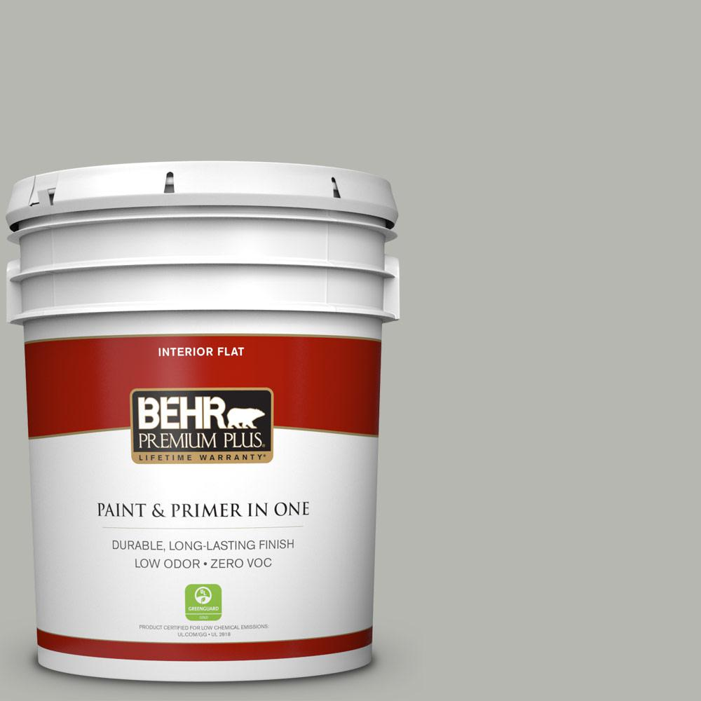 BEHR Premium Plus Home Decorators Collection 5-gal. #HDC-MD-26 Sonic Silver Zero VOC Flat Interior Paint