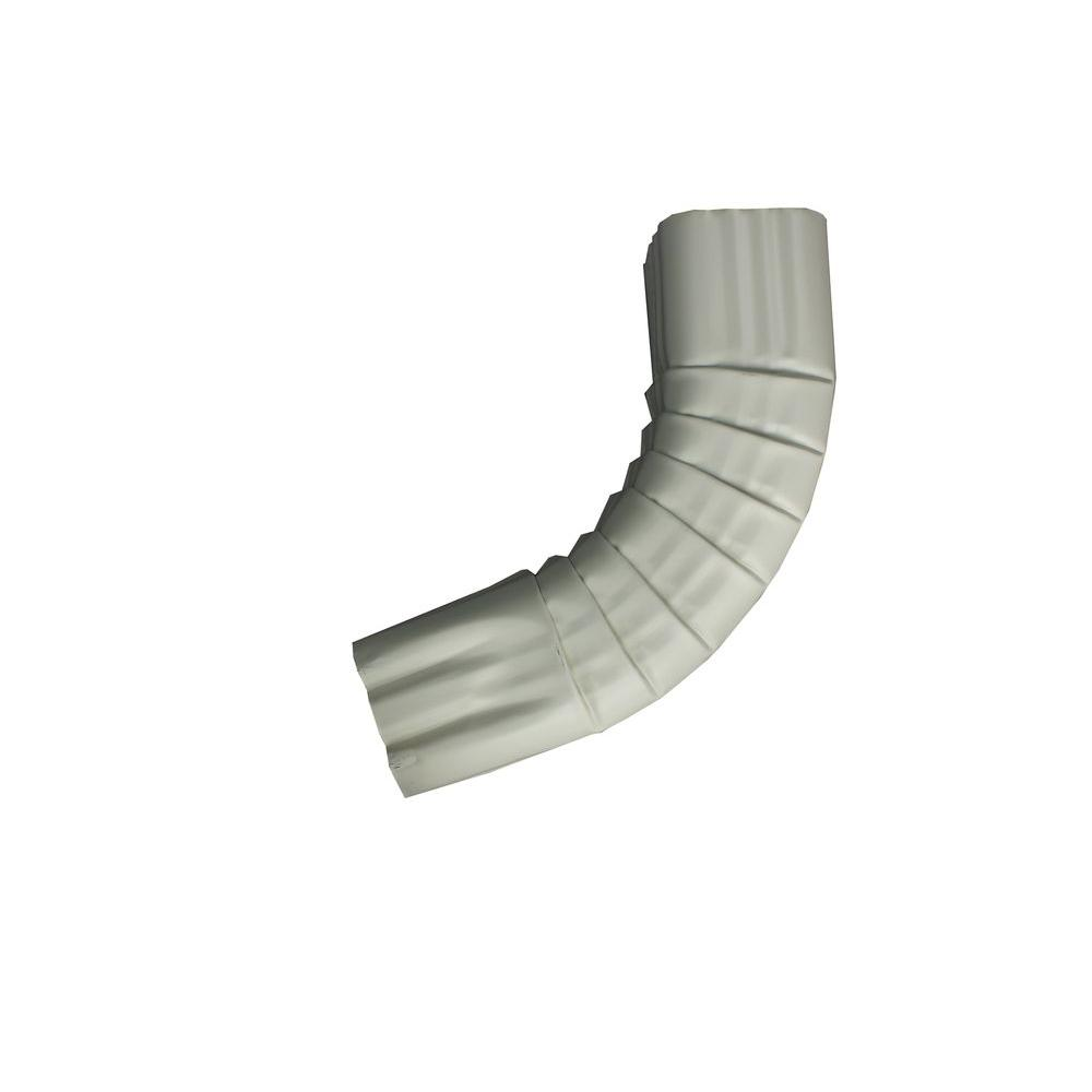 2 in. x 3 in. Almond Aluminum Downpipe - A Elbow