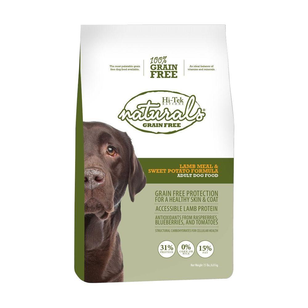 Hi-Tek Rations Naturals Adult Grain Free Lamb and Sweet Potato Dry Dog Food (15 lb. Bag)-DISCONTINUED