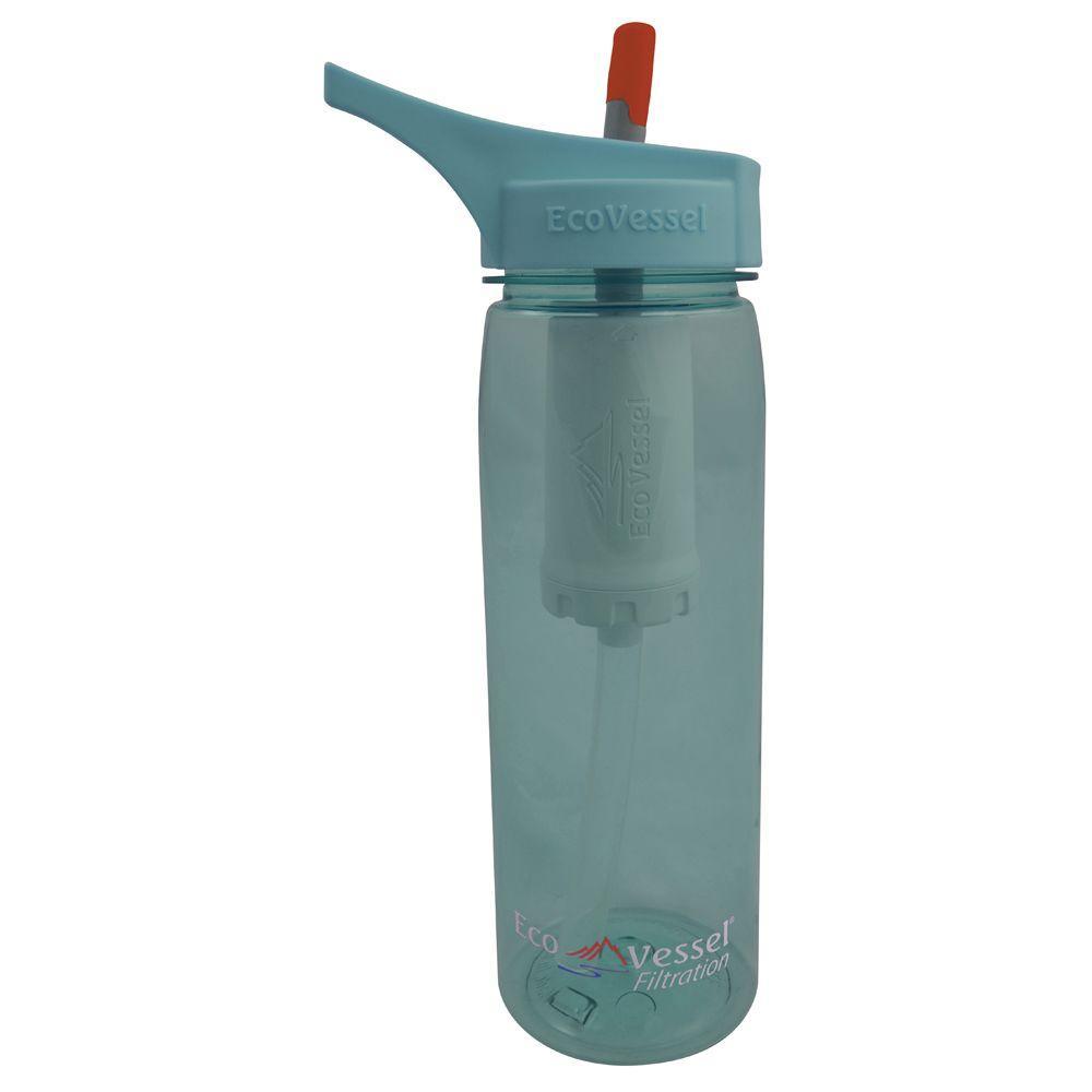 25 oz. Aqua Vessel Ultra Lite Tritan Filtration Bottle - Boulder Blue