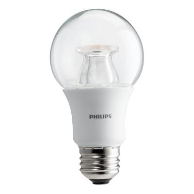 60-Watt Equivalent A19 Dimmable with Warm Glow Dimming Effect Energy Saving LED Light Bulb Soft White (2700K) (2-Pack)