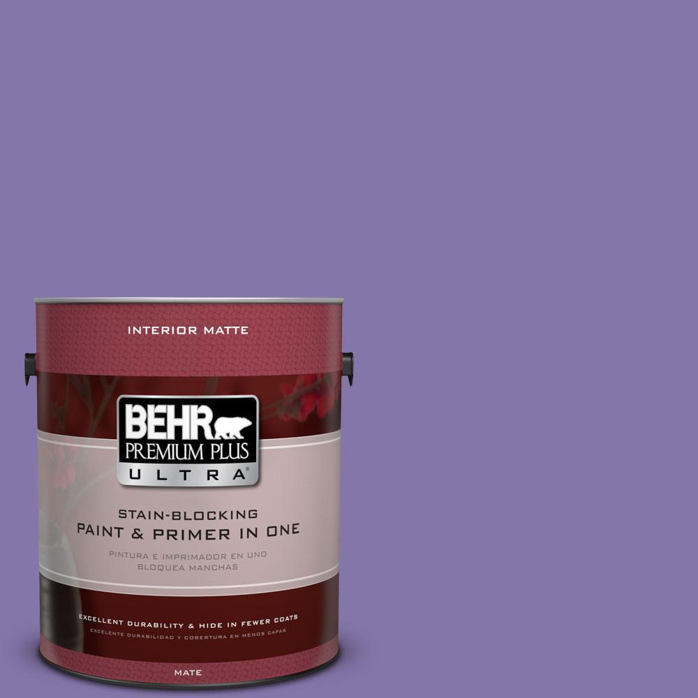 1 gal. #640B-6 Grape Parfait Flat/Matte Interior Paint