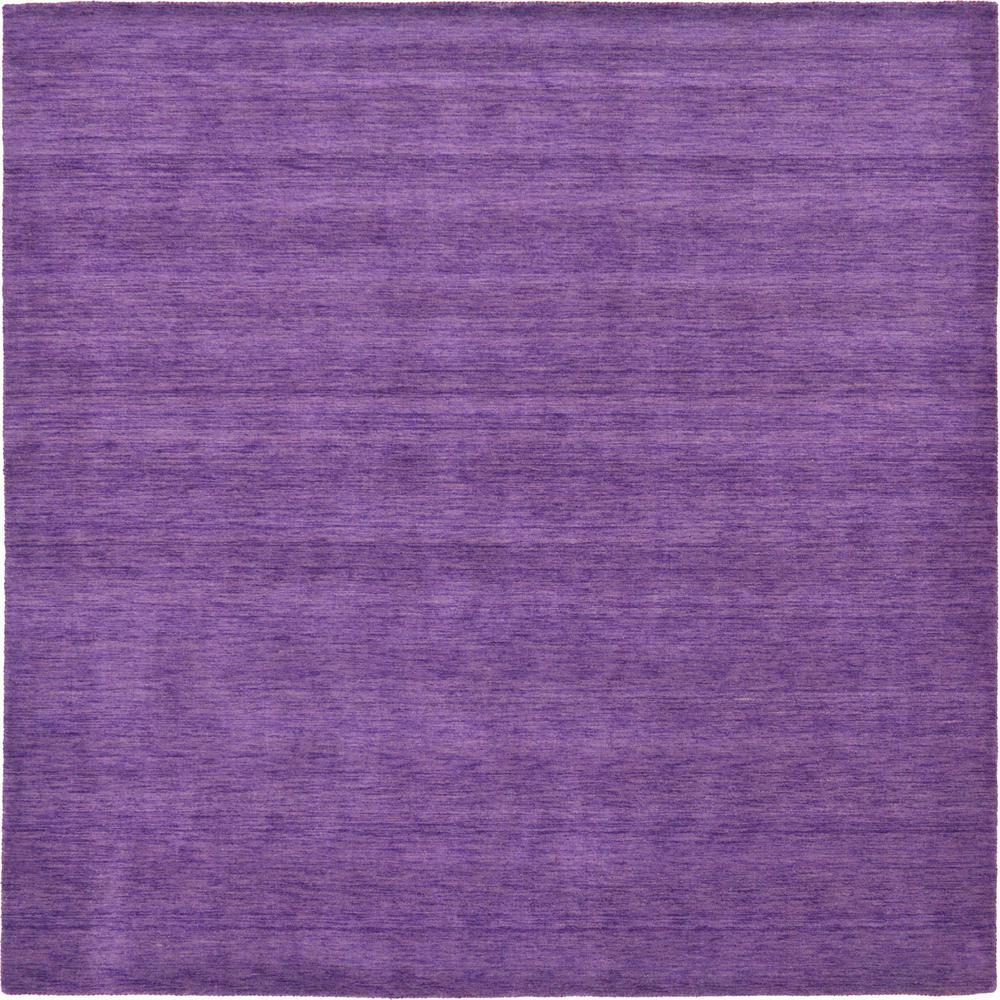 Unique Loom Solid Gava Solid Purple 9' 10 x 9' 10 Square Rug