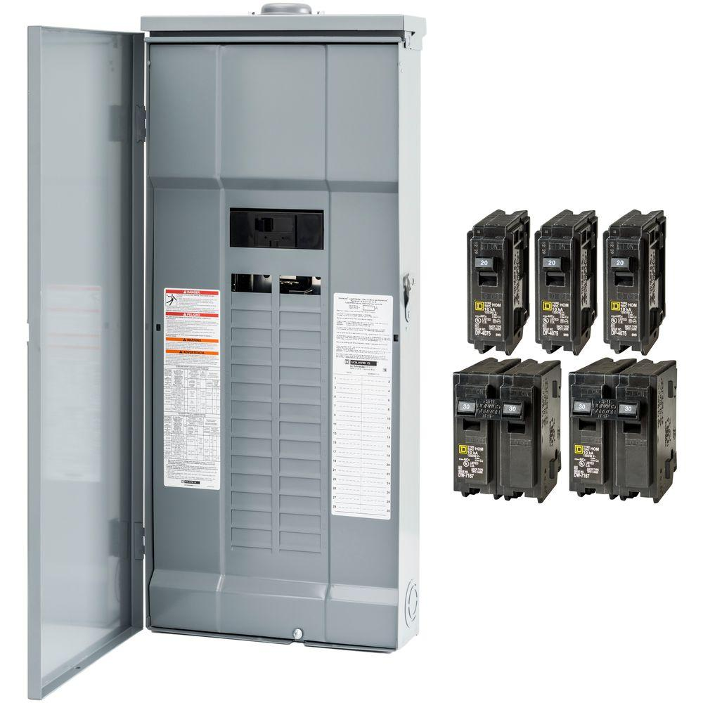 200 breaker boxes power distribution the home depot rh homedepot com Square D 200 Amp Box 200 Amp Fuse Holder