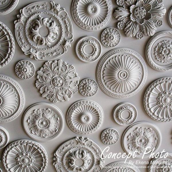Fits Canopies up to 6 Fits Canopies up to 6 Ekena Millwork CM38AN2-06000 38 1//4 OD ID x 1 1//2 P Antilles Ceiling Medallion Factory Primed White Two Piece Two Piece