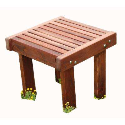 Sun 1912 Mission Brown Redwood Outdoor Side Table