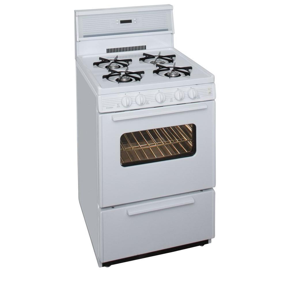 Zline Kitchen And Bath 24 In 2 97 Cu Ft Freestanding Gas Range White