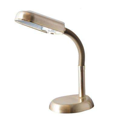 Deluxe SunLight 22 in. Brass Desk Lamp