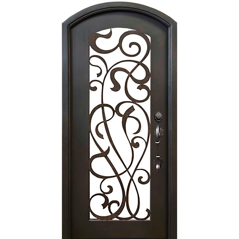 62 x 82 front doors exterior doors the home depot 40 in x 82 in eyebrow st lucie dark bronze full rubansaba