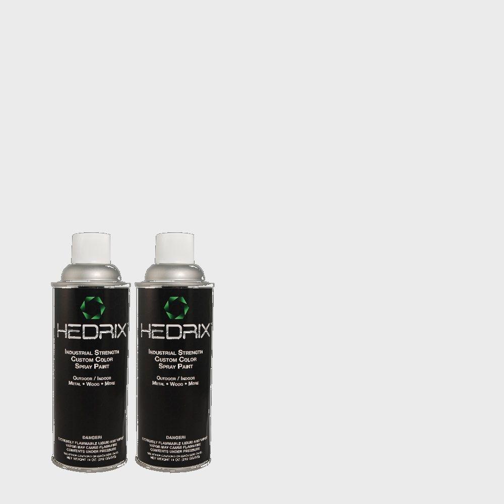 Hedrix 11 oz. Match of PPL-54 Snow Cloud Low Lustre Custom Spray Paint (2-Pack)