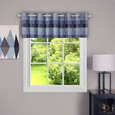 Harvard 14 in. L Polyester Valance in Blue