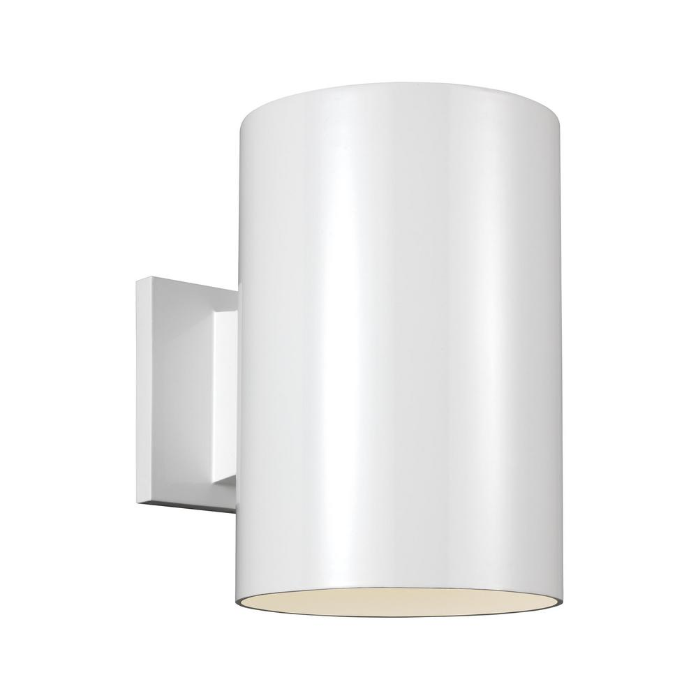 Sea Gull Lighting Outdoor Cylinders White Outdoor Integrated LED ...