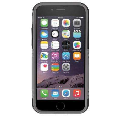 Hardshell Case with Stand Designed for iPhone 6 - Black/Gray