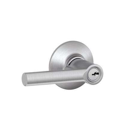 Custom Broadway Satin Chrome Keyed Entry Door Lever