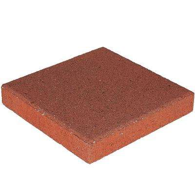 12 in. x 12 in. x 1.5 in. River Red Square Concrete Step Stone