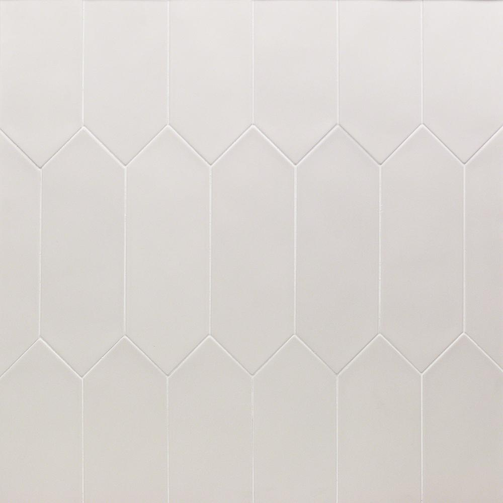 Ivy Hill Tile Russell White 4 In X 12 In 10 Mm Matte Porcelain