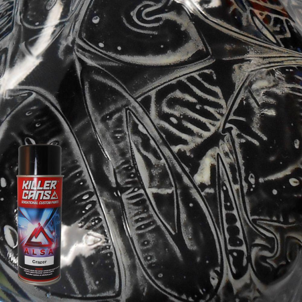 Alsa Refinish 12 oz. Crazer Black Shadow Killer Cans Spray Paint